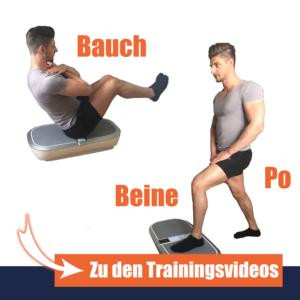 Vibrationsplatten Übungen Bauch Beine Po
