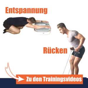 Vibrationsplatte Übungen für Entspannung und Rücken