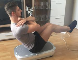 Sit-Ups Vibrationsplatte Übung